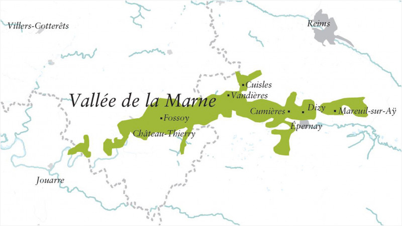 Karte Vallée de la Marne