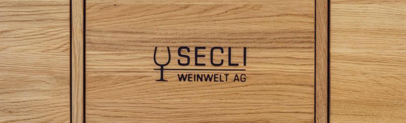 SECLI Weinwelt Logo Holz