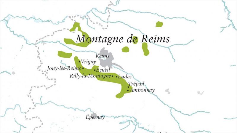 Karte Montagne de Reims